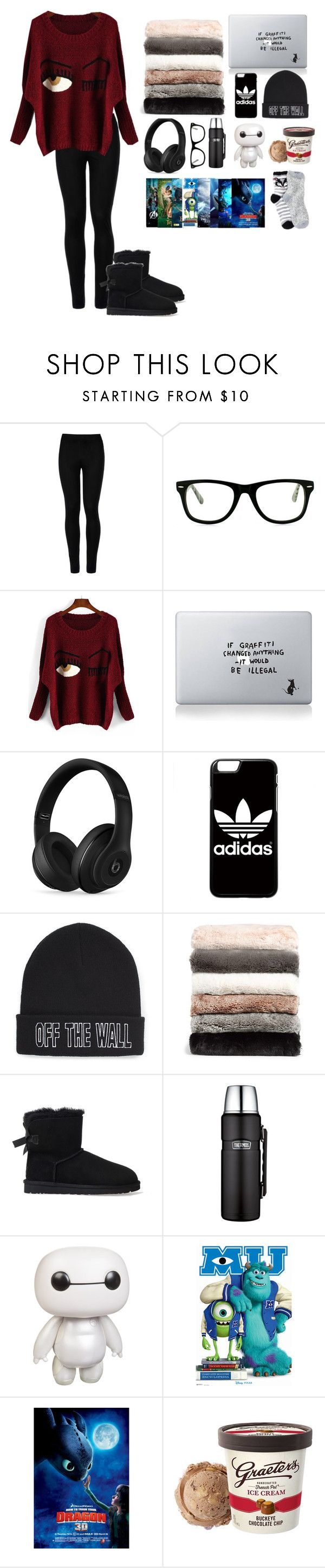 """Sick Days"" by camposv571 ❤ liked on Polyvore featuring Wolford, Muse, Vinyl Revolution, Beats by Dr. Dre, adidas, Vans, Nordstrom, UGG Australia, Thermos and Disney"
