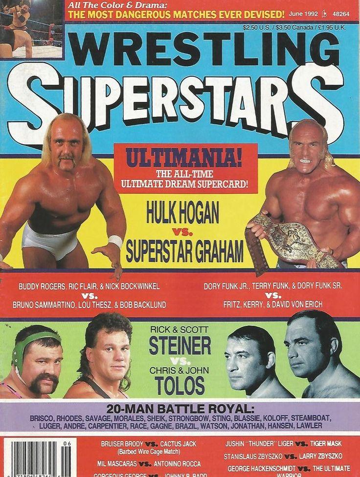 june 1992 wrestling superstars magazine hulk hogan superstar billy graham wwf from $2.99