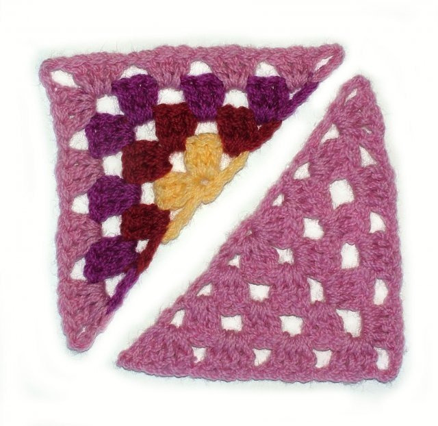 Finally the half granny square! I have needed this pattern.
