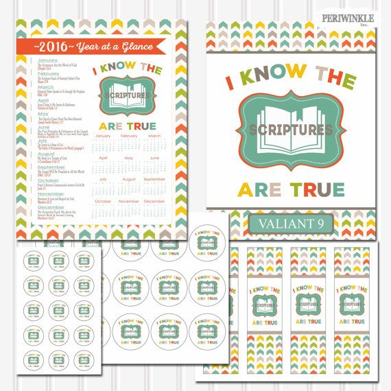2016 Primary Theme-I Know the Scriptures are True add on packages includes:  8.5x11 Editable Binder Cover .pdf file (must have adobe acrobat free