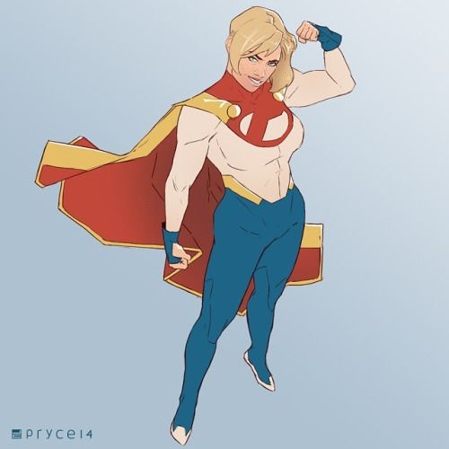 Power Girl redesign for today's daily. Not nearly as difficult as Starfire, but still a good workout.