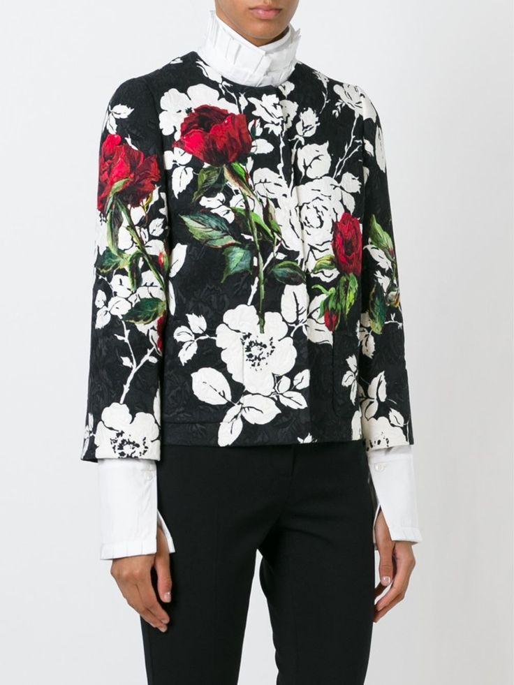 Dolce & Gabbana парчовый жакет с цветочным принтом