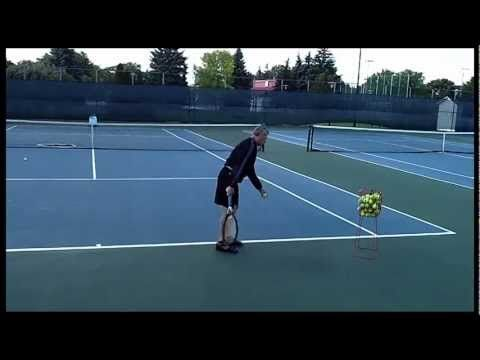 ▶ Complete Tennis Practice with Silent Partner Tennis Ball Machine - YouTube