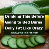If You Drink This Before Going To Bed You Will Burn Belly Fat Like Crazy
