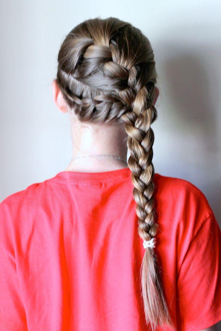 Inspirierende Französisch Braid Frisuren für kleine Mädchen #wasserfall #flec…