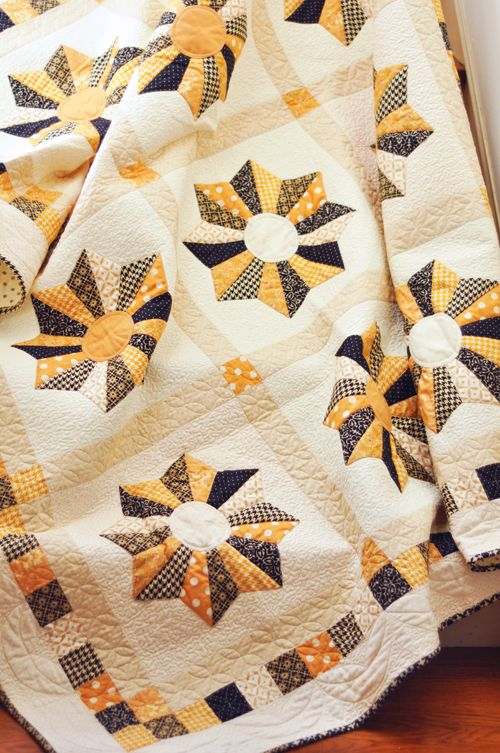Lollipops Quilt Pattern Fig Tree : Lollipops quilt pattern, shown in orange and black, by Joanna Figueroa at Fig Tree Quilts ...