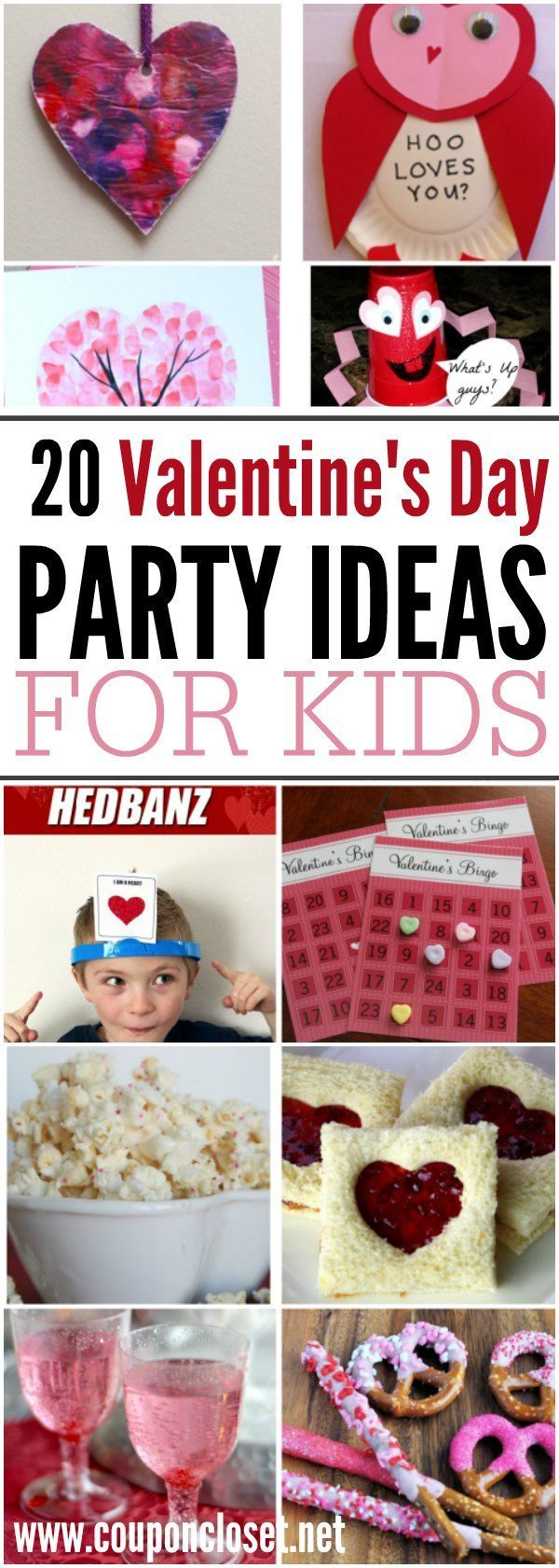 20 Valentines day party ideas for kids - from Valentine's Day food to Valentines Day games, and crafts these are the best Valentine's day party ideas
