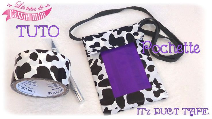 { TUTO } Pochette  en it'z duct tape