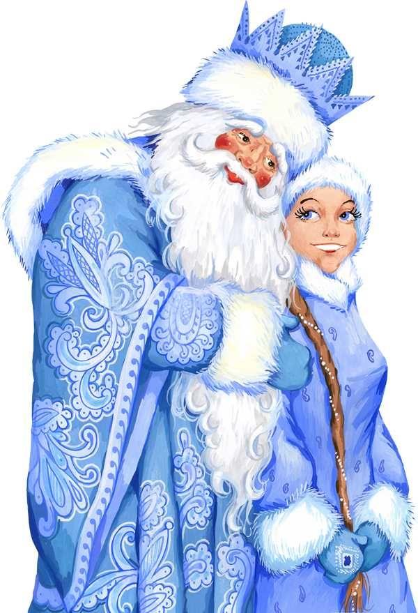 Картинки снегурочки и деда мороза вместе