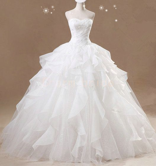 new design customade bridal wedding dress white lace princess wedding dresses crystal yarn ball gown sweetheart bridal gowns on Etsy, $229.00