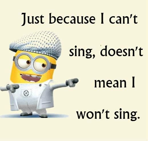 Oh there will be singing! :)