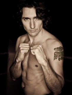 "I think Justin Trudeau will be the only politician on my ""Beautiful People"" board... but indeed, he looks good in this shot!"