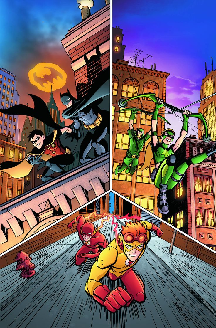 Young Justice Mentors and Protégés Robin and Batman Artemis and Green Arrow Kid Flash and the Flash