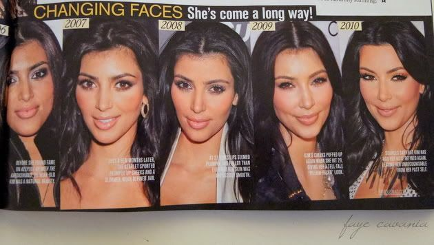 What a metamorphosis! Wow. Via @Nicole Novembrino Papp: Kim Kardashian plastic surgery. Makes me angry she denies having ANY work done.