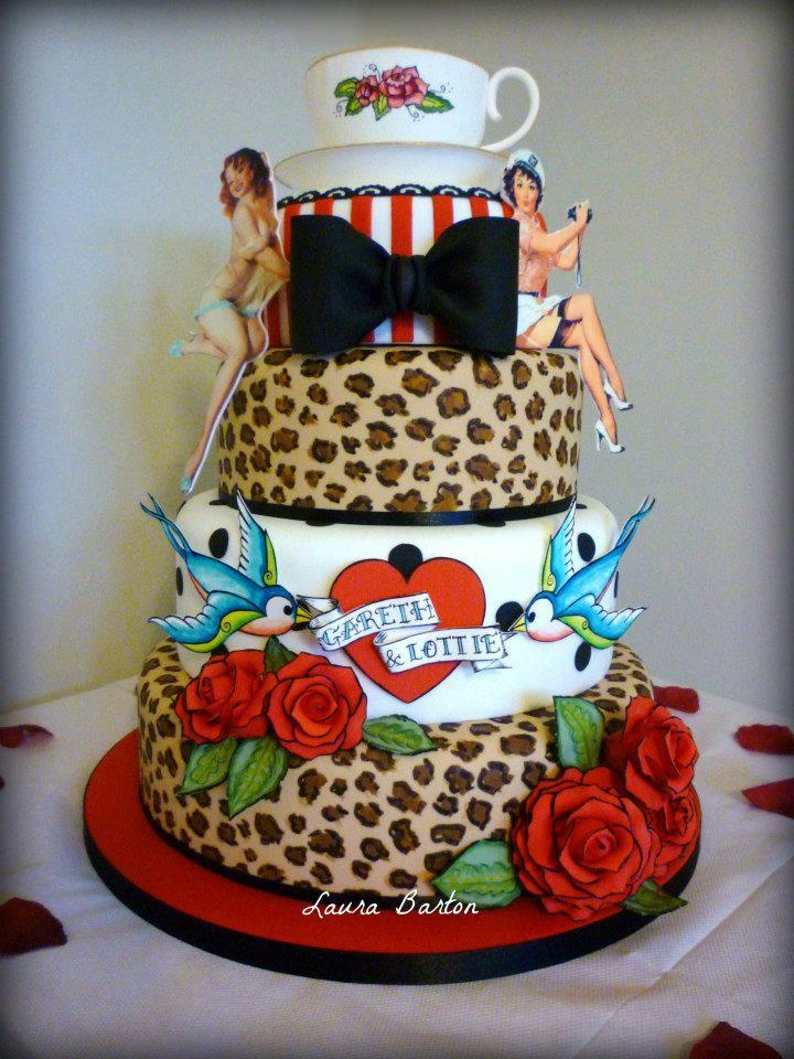 Because They Are Fun And Vivacious Often Being Low Budget Look Dramatic Id Like To Share Awesome Rockabilly Wedding Cakes That Will Easily Become