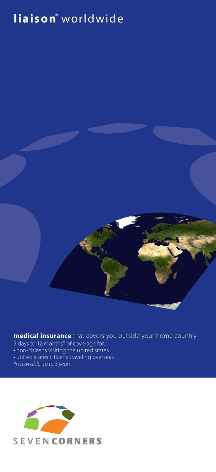 "Liaison Worldwide Insurance is a international #travel medical #insurance from @SevenCorners.com .  rated as ""A+"" by AM Best. The plan provides coverage for trips between 5 days to 3 years. The coverage begins immediately after you buy the plan to provide you with comprehensive travel medical coverage for your trip outside your home country.  Read reviews @ http://www.visitorscoverage.com/liaison-worldwide-insurance-reviews/"