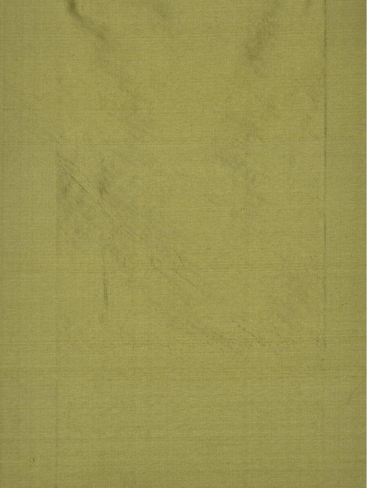 Oasis Solid Green Dupioni Silk Fabric Sample (Color: Apple green)