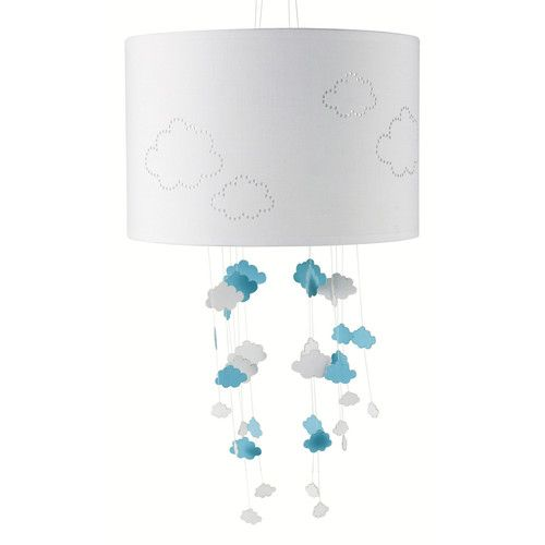 Lampada sospesa senza cavi elettrici per bambini Nuvole