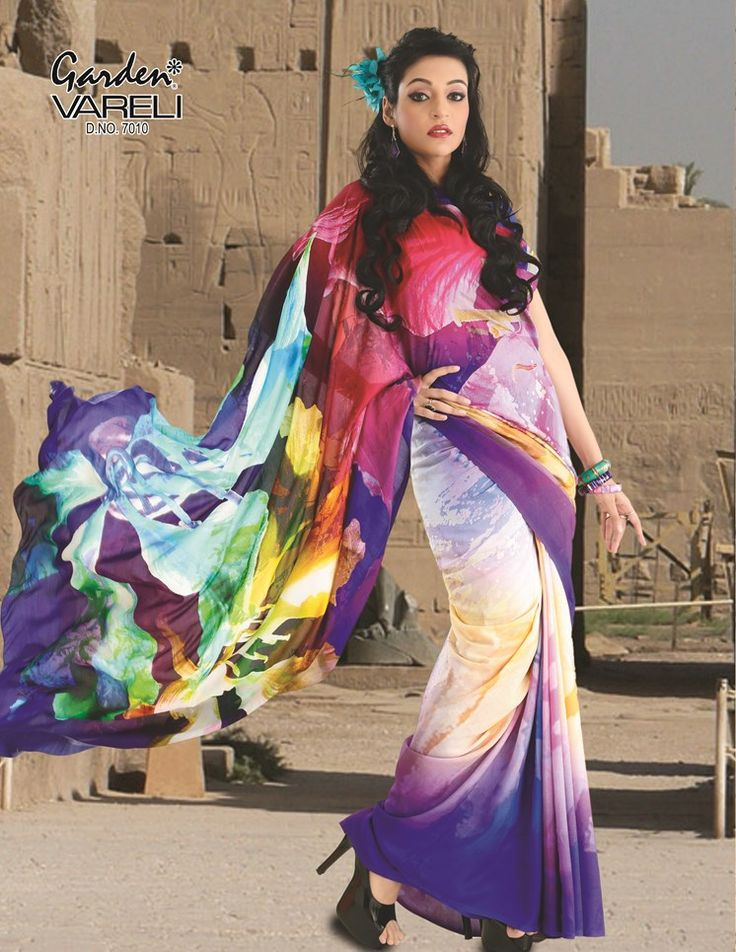 The Biggest and the most unique  Online Shopping for Sarees  #Fabric/Texture : #Silk Luxor Sr Print. At The Best Brands on Gardenvareli.com with Smart Price at Rs. 5,824/-