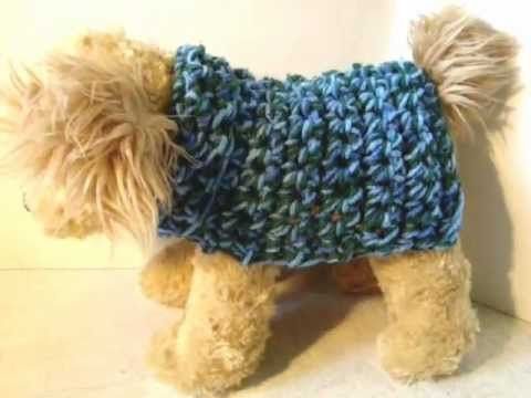 How To Crochet a Dog Sweater - YouTube