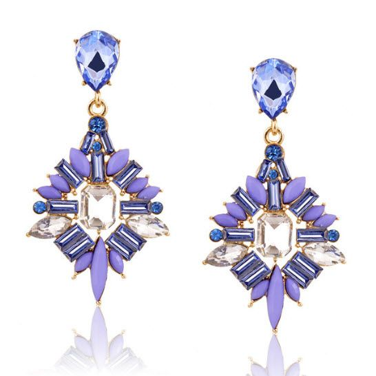 Pinnacle: Be the pinnacle of your evening with these poised earrings. Available in lilac or grapefruit, they are perfect to accessorize a formal evening outfit.