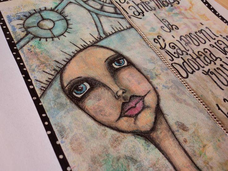 "Art Journal by *Silkku* ""I am ready to leave ..."" silkkus.blogspot.fi"