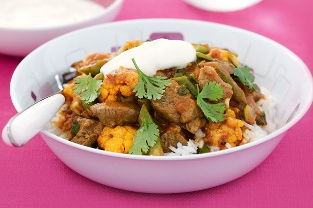Looking for interesting, healthy ways to increase your vegie intake? Do it Indian style with this bright and spicy meal. Fresh vegies and assorted spices give this low-GI curry loads of flavour.