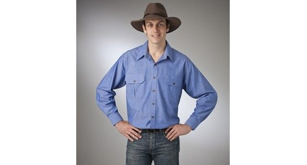 Country Tradition – Style 10818 (Long Sleeve) & Style 10828 (Short Sleeve) are a Plain Chambray Countryman Shirt made from 100% Cotton fabric in Blue and are available in sizes – S – 5XL
