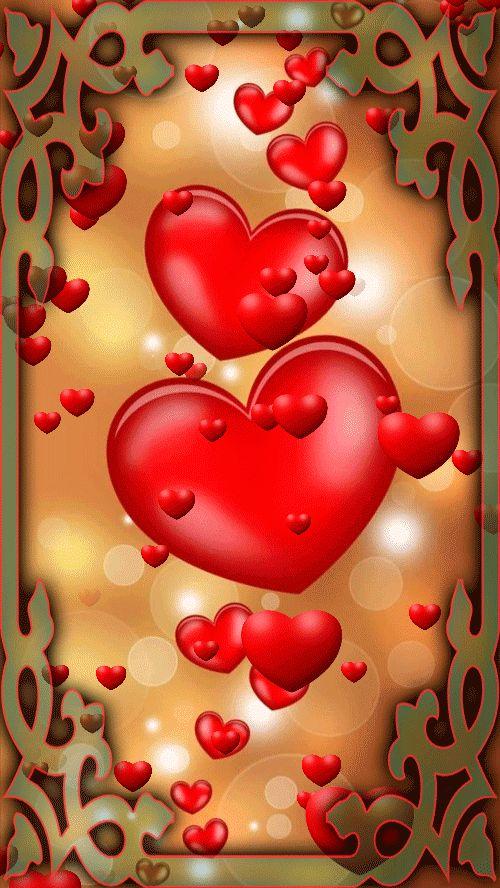 Картинки любовь сердечки анимация на телефон