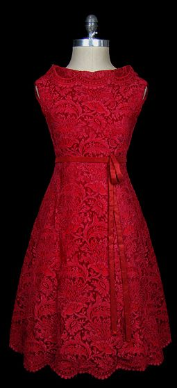Beautiful Red Lace Dress.