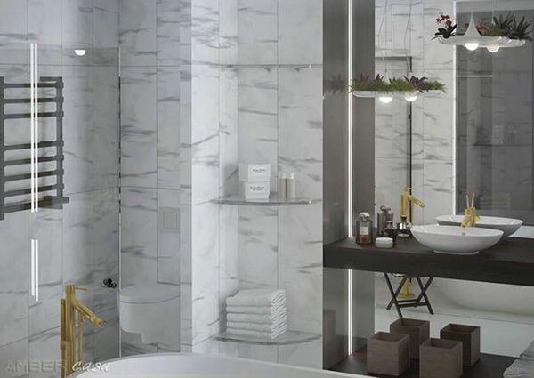 Ванна, ванная комната, ванная, мрамор, мраморная плитка, bathroom