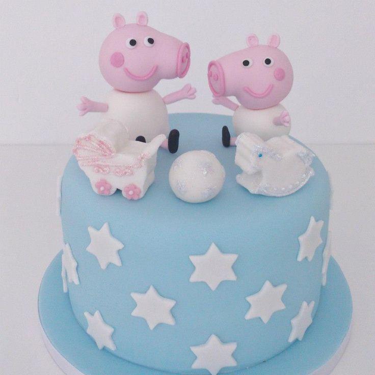 Pastel Peppa Pig habitación infantil bebé