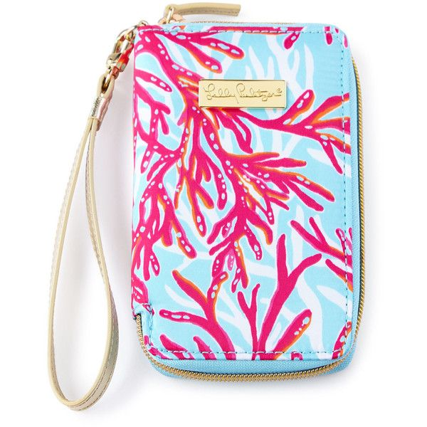 Lilly Pulitzer Coral-Print Tiki Palm iPhone 6 Wristlet ($34) ❤ liked on Polyvore featuring accessories, tech accessories, smartphone wristlet, lilly pulitzer wristlet, palm smartphone, iphone wristlet and smart phone wristlet