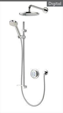 Aqualisa Quartz Digital   Concealed & Exposed Digital Showers
