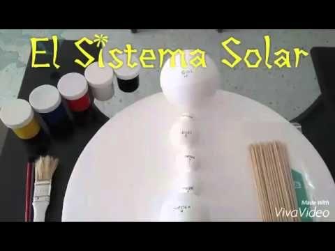 Cómo hacer una maqueta del SISTEMA SOLAR en icopor para niños // Model of the SOLAR SYSTEM - YouTube