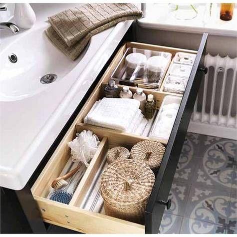 Ikea hemnes bathroom vanity with r ttviken sink design - Ikea rangement tiroir salle de bain ...
