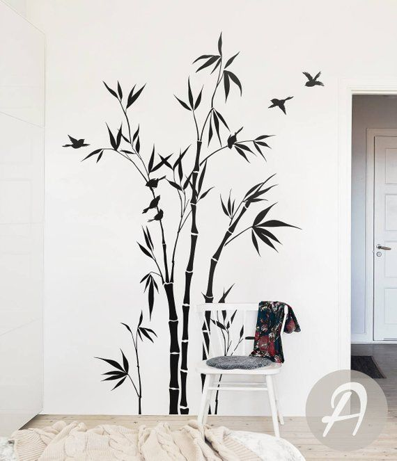Amazing Vinyl Wall Stickers Durable Decal Decor High Quality UK Giant Bamboo