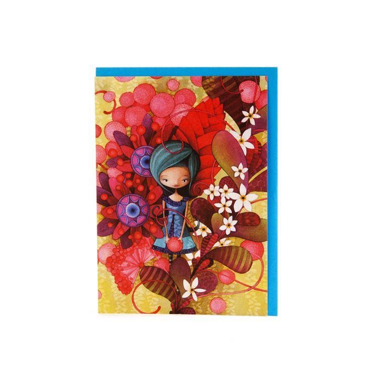 Pour célébrer en couleur! // Carte Dame en Bleu KETTO Card Blue Lady // Sans inscription. // Blank. // #Carte #Card #Ketto