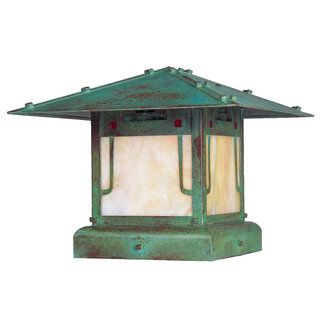 Arroyo Craftsman PDC-12 Pier Mount Post Lights - From Build.com    http://www.build.com/arroyo-craftsman-pdc-12-pier-mount-post-lights/p360401  Perfect tops for our backyard fence columns