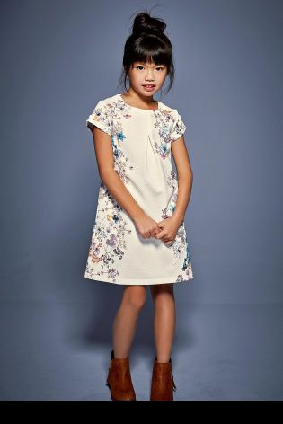 Buy Ecru Printed Ponte Dress (3-16yrs) online today at Next: Australia