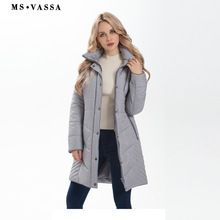MS VASSA Women Jacket 2017 New Autumn Winter long coats Ladies Parkas removable hood with fake fur plus size outerwear 5XL 7XL //FREE Shipping Worldwide //