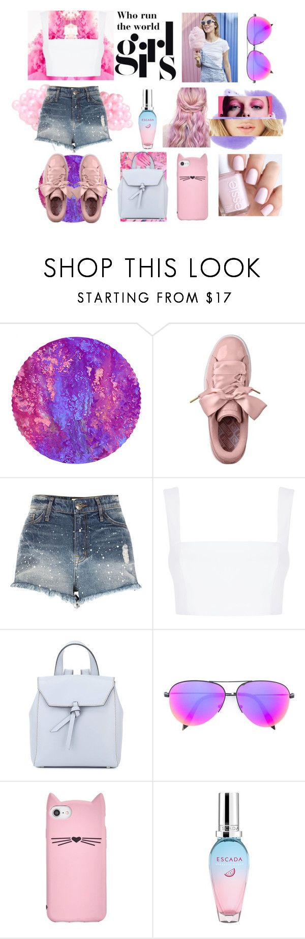 """Who #run the #world #girls"" by nechines ❤ liked on Polyvore featuring River Island, Nicholas, Alexandra de Curtis, Victoria Beckham, Kate Spade, ESCADA, Girls, run and world"