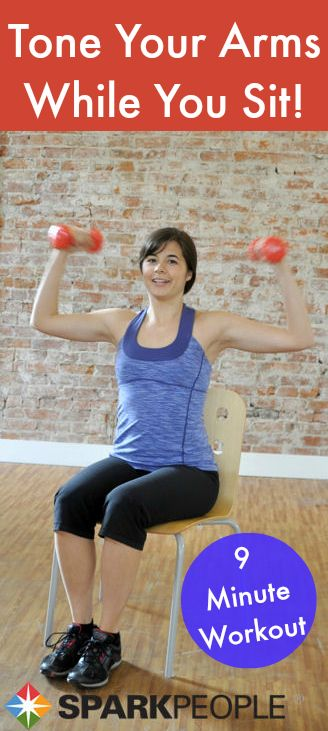 Sit down and get sculpting! This 9-minute workout hits every muscle in your arms.  okay i think i can do this haha