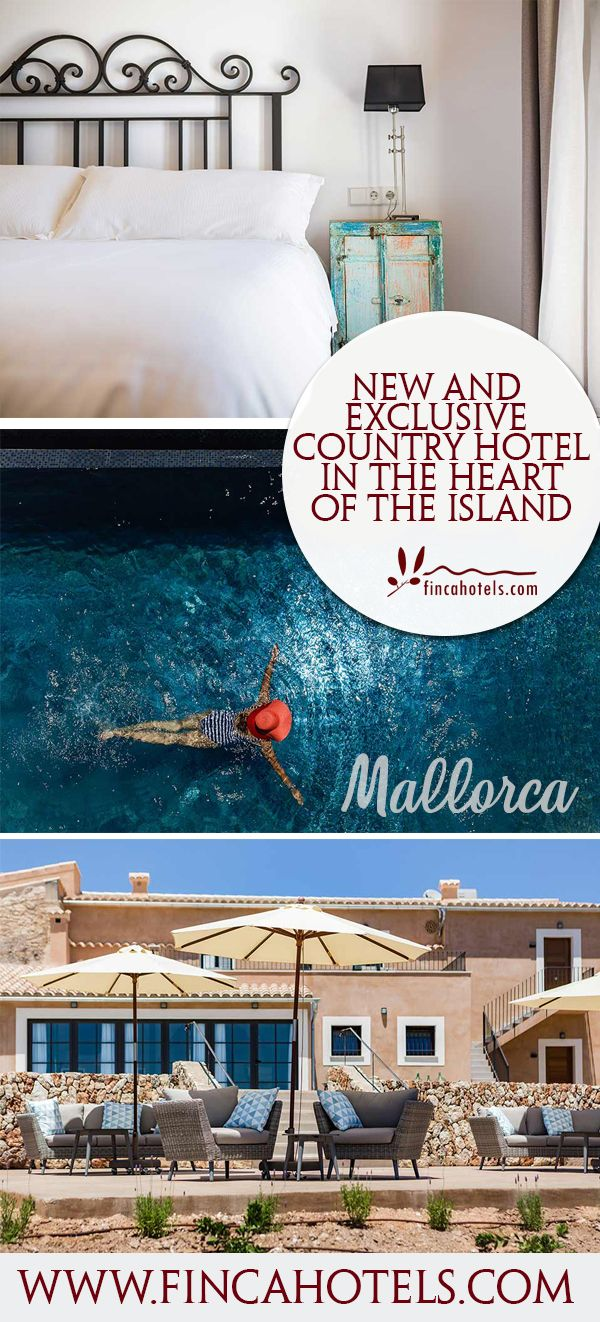 The new 4 star rural hotel Agroturismo Ses Vistes on Mallorca opens its doors for guests in June 2017. 12 exclusively furnished rooms and a beautiful pool are available then on a large finca estate close to Porreres for recreative finca holidays on Mallorca. #mallorca #majorca #holiday #family #travel #designhotel #familyfriendly