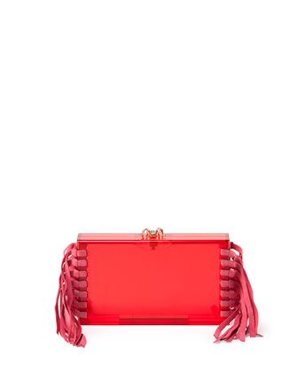 Fringe Pandora Clutch Bag by Charlotte Olympia at Neiman Marcus.
