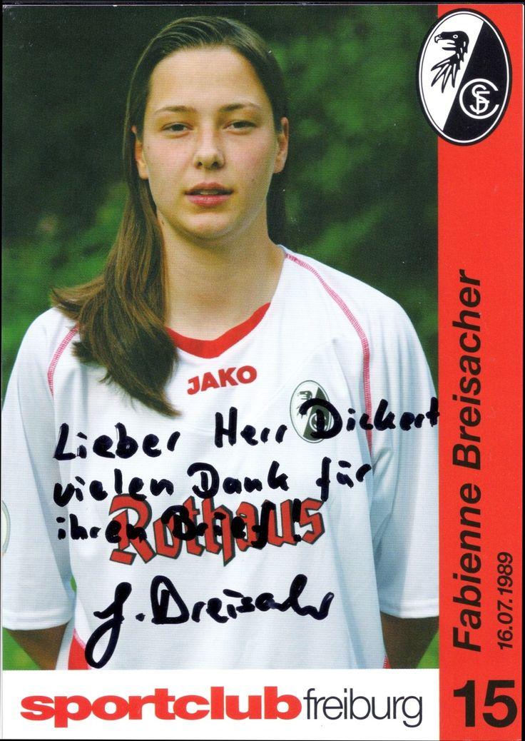 2005-06 SC Freiburg Fabienne Breisacher autograph