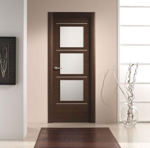 puerta interior moderna mod v cristal aluminio puertas innova slu