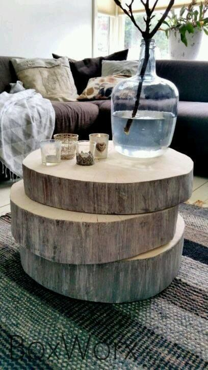 Drill Holes And Run A Dowel Off Center To Make An Interesting Stackable  Table.
