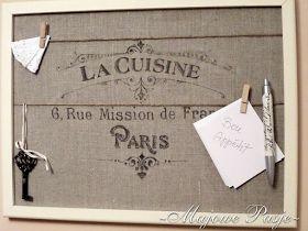 Korkowa tablica do kuchni - La Cuisine