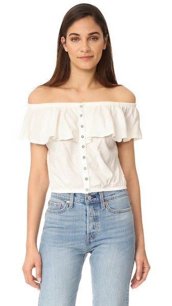 Ivory Free People Love Letter Tube Top